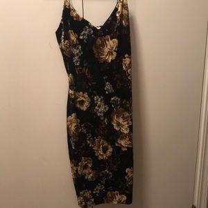 Charlotte Russe velvet floral dress